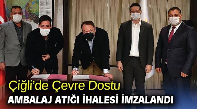 Çiğli'de Çevre Dostu Ambalaj Atığı İhalesi İmzalandı