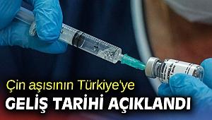 Çin aşısının Türkiye'ye geliş tarihi açıklandı