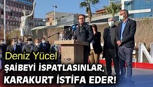 Deniz Yücel, Şaibeyi ispatlasınlar, Karakurt istifa eder!