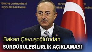 Dışişleri Bakanı Çavuşoğlu'ndan Sürdürülebilirlik açıklaması