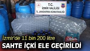 İzmir'de 11 bin 200 litre sahte içki yakalandı