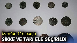 İzmir'de 116 parça sikke ve takı ele geçirildi