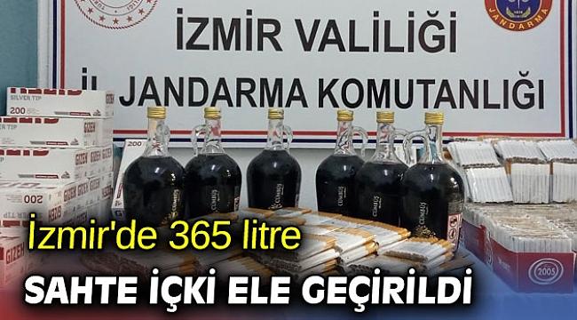 İzmir'de 365 litre sahte içki ele geçirildi