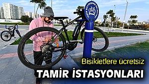 İzmir'de bisikletler için ücretsiz tamir istasyonları kuruldu
