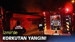 İzmir'de çıkan yangında müstakil ev kullanılmaz hale geldi