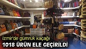 İzmir'de gümrük kaçağı 1018 ürün ele geçirildi