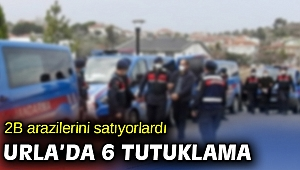 İzmir'de Hazine arazilerini kanuna aykırı şekilde satmaya çalışan 6 kişi tutuklandı