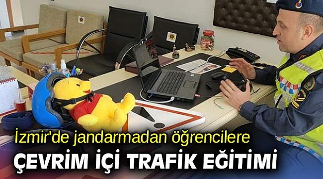 İzmir'de jandarmadan öğrencilere çevrim içi trafik eğitimi