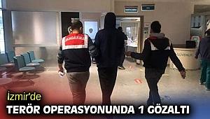 İzmir'de terör operasyonunda 1 gözaltı