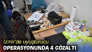 İzmir'de uyuşturucu operasyonunda 4 gözaltı