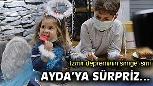 İzmir depreminin simge ismi Ayda'ya sürpriz doğum günü