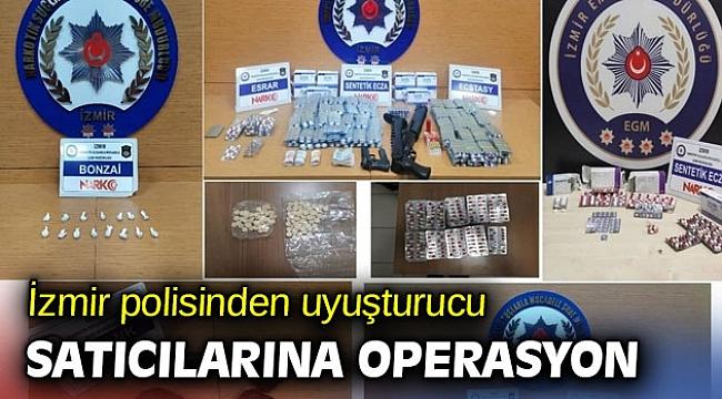 İzmir polisinden uyuşturucu satıcılarına operasyon