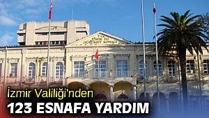 İzmir Valiliği'nden 123 esnafa yardım