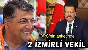 ORC'nin 'en beğenilen' anketine İzmir'den 2 vekil girdi