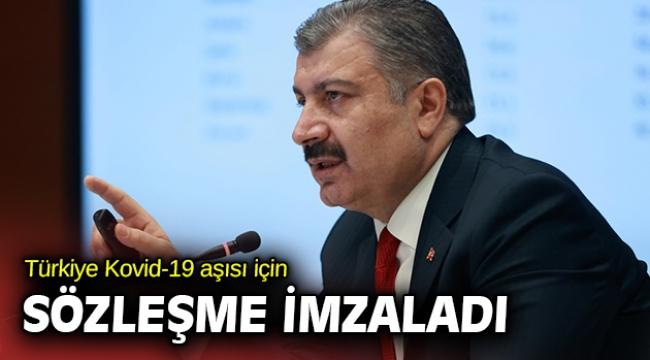 Sağlık Bakanı Koca, Kovid-19 aşısı için sözleşme imzalandığını duyurdu