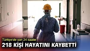 Türkiye'de son 24 saatte 218 kişi hayatını kaybetti.