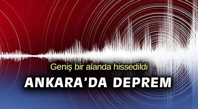 Ankara'da deprem!