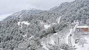 Aydın Büyükşehir çalıştı vatandaşlar yaylada kar keyfi yaşadı