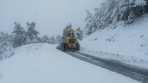 Aydın'da ekipler karla mücadele çalışmalarını sürdürüyor!