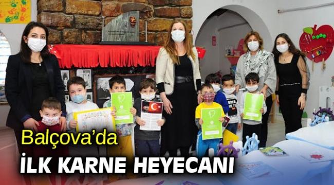 Balçova'da ilk karne heyecanı yaşandı