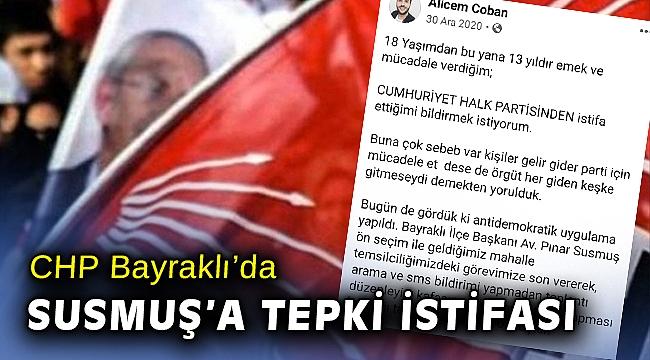 Başkan Susmuş'a tepki istifası