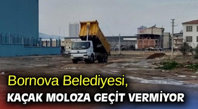 Bornova Belediyesi, kaçak moloza geçit vermiyor