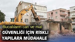 Buca'nın metruk binaları yıkılıyor!