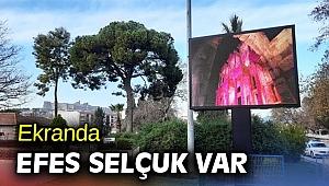 Ekranda Efes Selçuk var