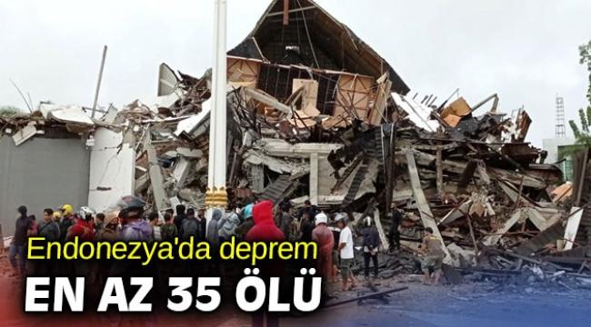 Endonezya'da deprem: En az 35 ölü