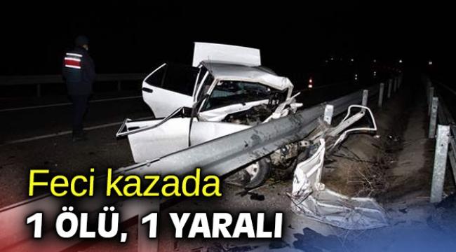 Feci kazada 1 ölü, 1 yaralı