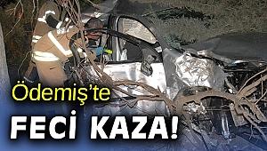 İzmir'de elektrik direğine çarpan otomobilin sürücüsü hayatını kaybetti
