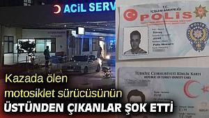 İzmir'de kazada ölen motosiklet sürücüsünün üstünden çıkanlar şok etti