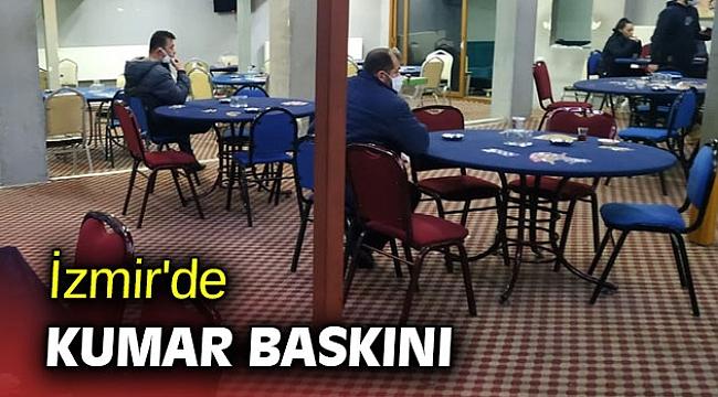 İzmir'de kumar baskını