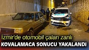 İzmir'de otomobil çalan zanlı kovalamaca sonucu yakalandı
