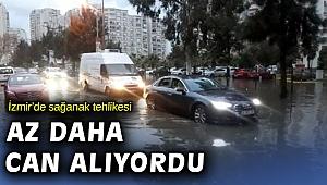 İzmir'de sağanak etkili oluyor