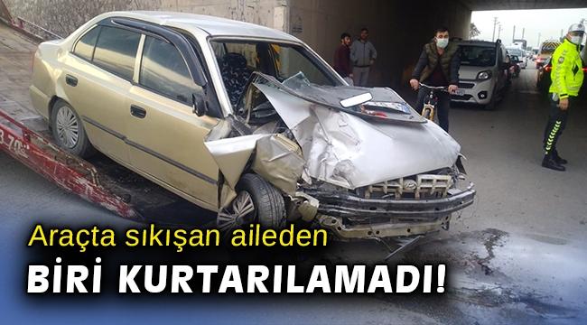 Manisa'da otomobil alt geçit duvarına çarptı: 1 ölü, 1 ağır yaralı