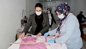 Pandeminin kadın kahramanları kuşadası'nın maske ihtiyacını giderdi