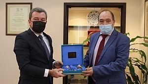 Rasikh Sagitov'dan Başkan Koştu'ya ziyaret