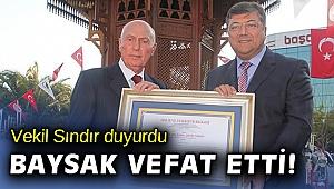 Sındır'dan 'Kemal Baysak' mesajı: Çok üzgünüm!