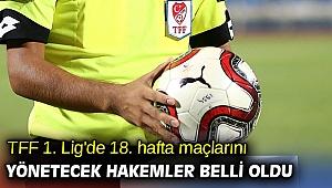 TFF 1. Lig'de 18. hafta maçlarını yönetecek hakemler belli oldu