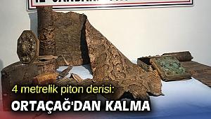 4 metrelik piton derisi: Ortaçağ'dan kalma