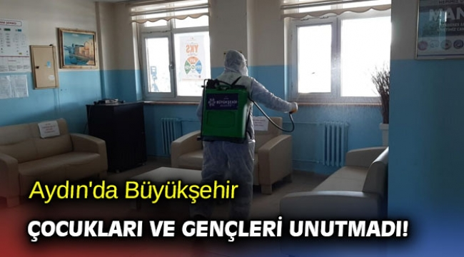 Aydın'da Büyükşehir çocukları ve gençleri unutmadı!