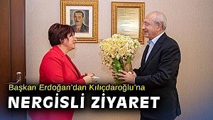 Başkan Erdoğan'dan Kılıçdaroğlu'na nergisli ziyaret