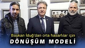 Başkan Mustafa İduğ'dan orta hasarlı binalar için dönüşüm modeli