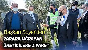 Başkan Soyer'den zarara uğrayan üreticilere ziyaret