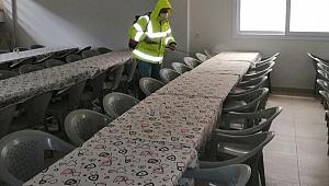 Bergama'da cami ve cem evleri dezenfekte ediliyor, temizleniyor