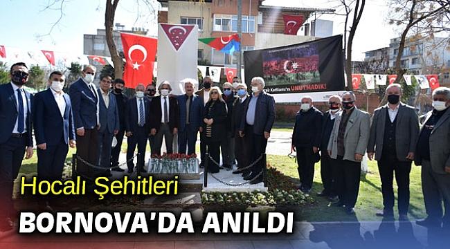 Bornova'da Hocalı Şehitleri anıldı