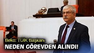 CHP'li Beko: TÜİK Başkanı Neden Görevden Alındı!