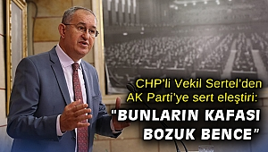 """CHP'li Vekil Sertel'den AK Parti'ye sert eleştiri: """"Bunların kafası bozuk bence"""""""