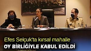 Efes Selçuk'ta kırsal mahalle oy birliğiyle kabul edildi